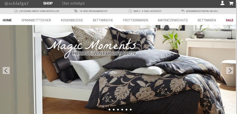 Schlafgut-Onlineshop für Produkte rund ums Bett