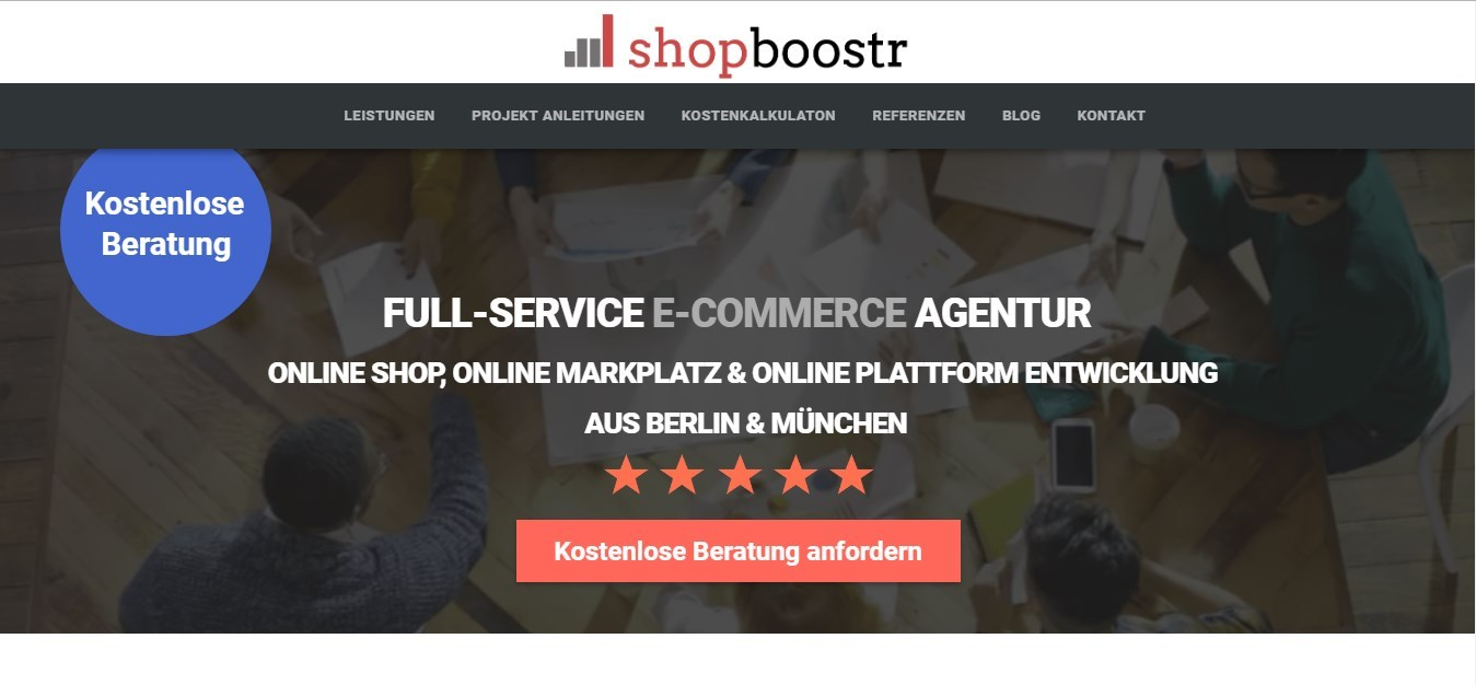 Shopboostr.de bietet eCommerce für ihre Kunden an