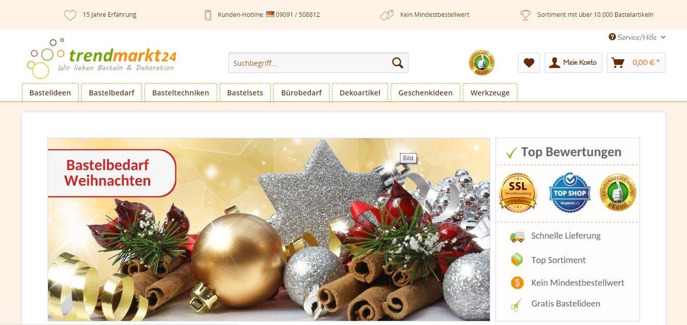 Trendmarkt24 - Der Onlineshop für Basteln und Bastelbedarf