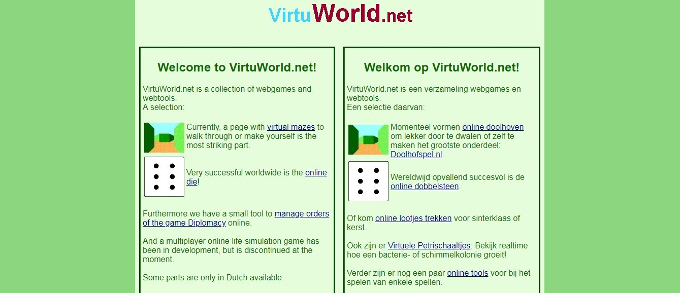 Virtuworld.net ist eine Spiele-Plattform aus den Niederlanden