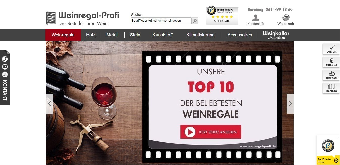 Weinregal-Profi ist ein Onlineshop für exklusive Weinregale