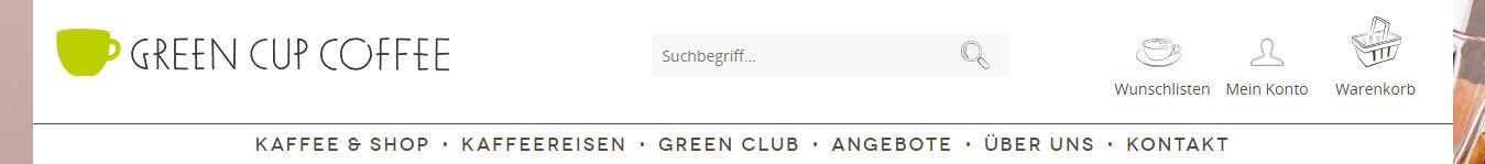 Kategorien vereinfachen den Einkauf auf green-cup-coffee.de