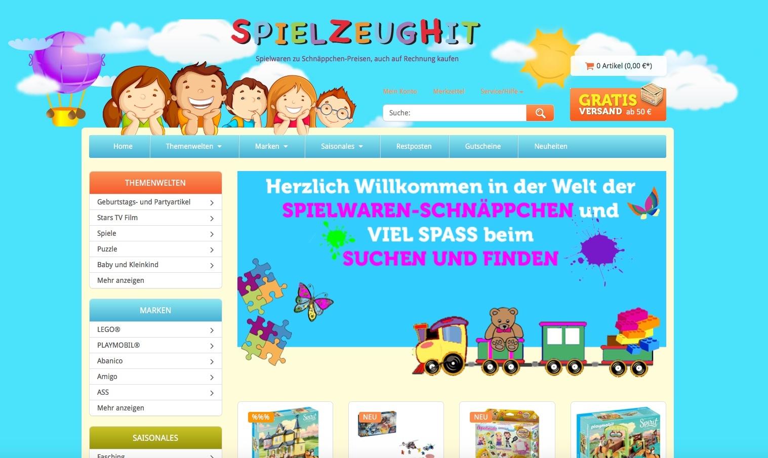Spielzeughit.de gehört zu den Top 50 Online Shops!