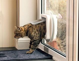 Bedienung von SureFlap Mikrochip Katzenklappe im Test
