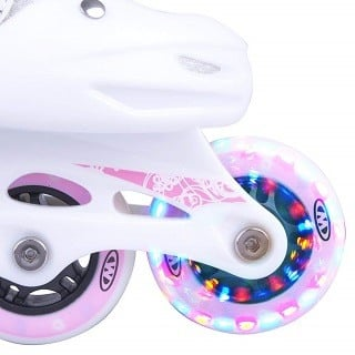 Die Diane Kinder Inline-Skates haben sehr stabile und robuste Räder Test