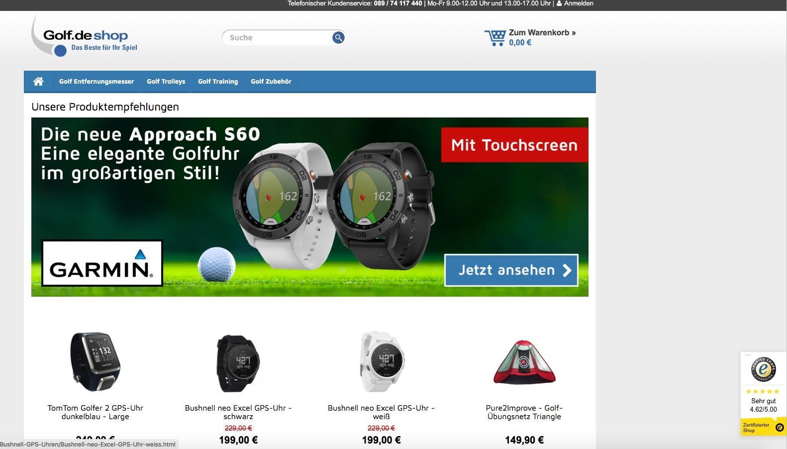 Der golf.de Online Shop gehört zu den Top 50 Sport Online Shops bei ExpertenTesten.