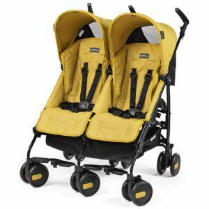 Zwillingskinderwagen gelb