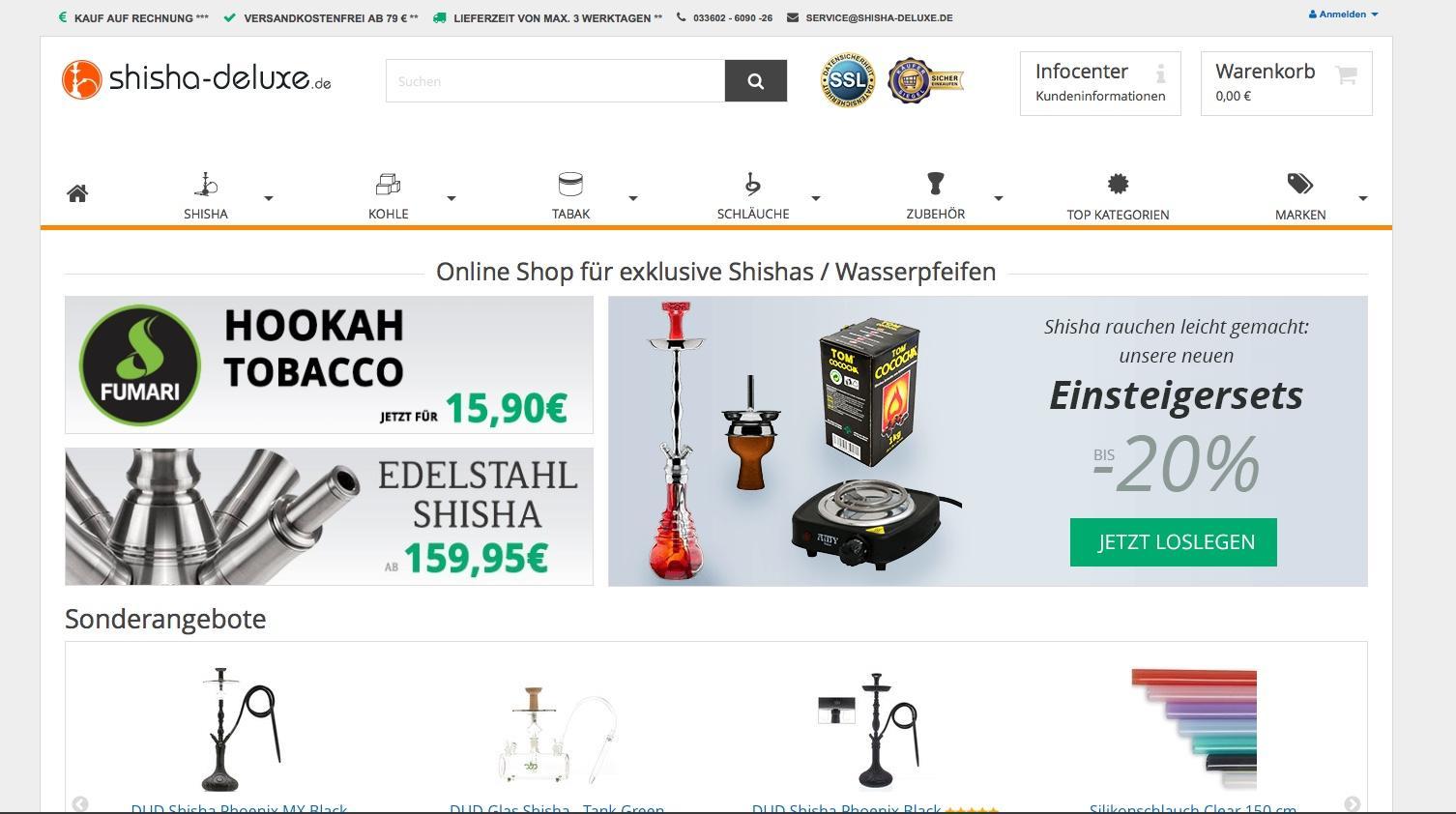 shisha-deluxe gehört zu den Top-50 Spezial-Shops bei ExpertenTesten.de