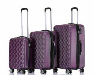 BEIBYE Zwillingsrollen 2066 Hartschalenkoffer 3er Set S, M, L - Farbe violet Test