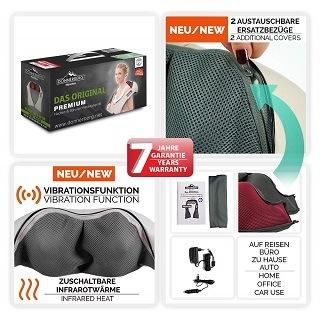 Das Nackenmassagegerät mit 7 Jahre Garantie von Donnerberg 3D im Test und Vergleich