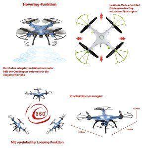 Syma X5HC Quadrocopter Eigenschaften, Test und Vergleich