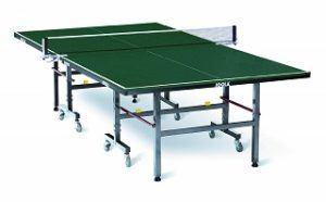 Die TT-Tisch TRANSPORT Tischtennisplatte von JOOLA ist sehr gut robust und hat eine sehr schöne Grüne farbe Test
