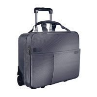 Leitz, Business Softcase Handgepäck-Trolley, Smart Traveller, 17 Fächer, 44 x 37,5 x 23 cm, Polyester/Metall/Leder, Complete, Silber, 60590084 Test