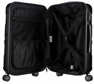 SUITLINE Hartschalen Koffer Koffer Trolley Rollkoffer Innen Test