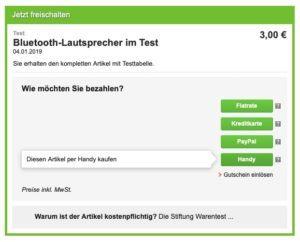 Bluetooth-Lautsprecher Stiftung Warentest