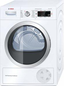 Trommel und Display der Bosch WTW875W0 Serie 8 Waschmaschine mit integriertem Trockner und Selbstreinigungsfunktion im Test.