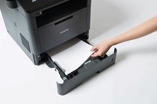 Papierzuführung von Brother MFC-L5700DN Faxgerät im Test