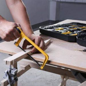 DEKO Werkzeugkoffer bestückt 168-teilig Säge