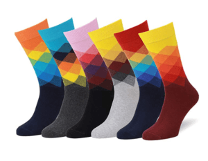 Bunte Socken aus Baumwolle von dem Hersteller Easton Marlowe im Test und Vergleich.