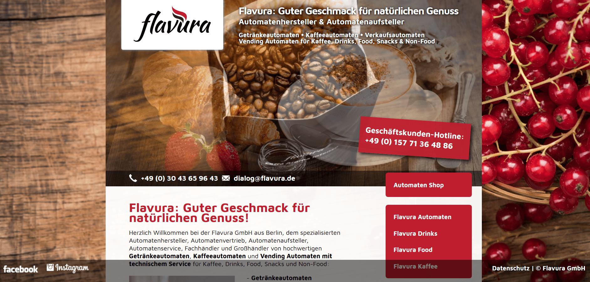 Automatenhersteller und Automatenaufsteller Flavura GmbH