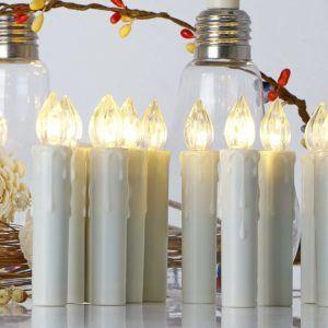 Meist wird die LED-Beleuchtung der kabellosen Weihnachtsbaumbeleuchtung von Koopower im Test mit AA- oder AAA-Batterien bestückt.