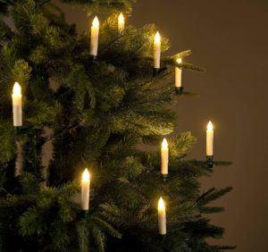 Stromverbrauch der kabellosen LED Weihnachtsbaumbeleuchtung SET von Lunartec im Test und Vergleich.