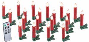 Kabelloses rotes LED Christbaumkerzen Weihnachtsbaumbeleuchtung SET mit Fernbedienung von Lunartec im Vergleich und Test.