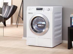 Waschen und Trocknen in unter 3 Stunden mit der Miele WTH 730 WPM Wash Dry 7 kg Waschmaschine mit integriertem Trockner im Test.
