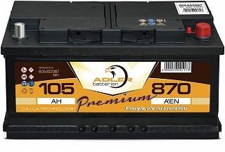Autobatterie Adler 12 V 105 Ah -870 A EN im Test und Vergleich