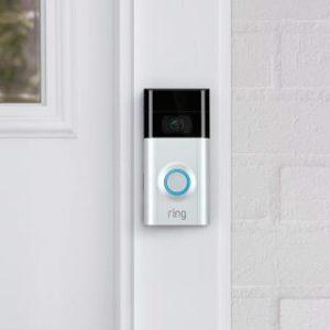 Ring Video Doorbell 2 WLAN Türklingel montiert