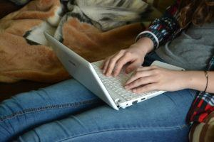 Laptop gemütlich