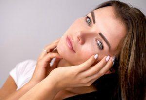 Mädchen mit Makeup