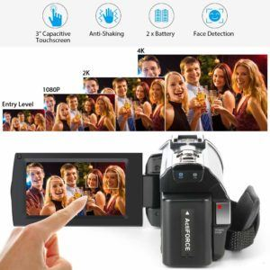 Welche Arten von Videokamera gibt es in einem Testvergleich?