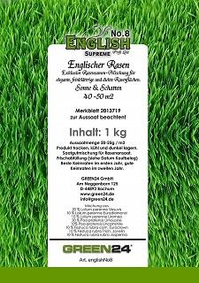 GREEN24 English No.8 SUPREME Rasensamen: Eigenschaften, Test und Vergleich