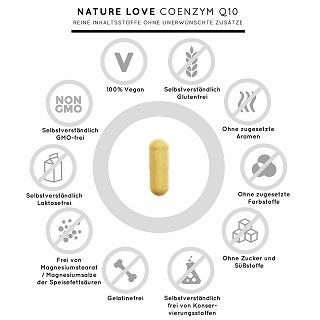 Die Q10 Kapseln von Nature Love sind zu 100% vegan im Test