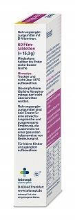 Die 800 Depot Folsäure Tabletten von Tetesept sind sehr leicht zu schlucken im Test