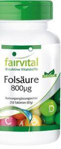 Die Bioaktive Vitalstoffe Folsäure Tabletten von Faivital sind von hoher Qualität im Test