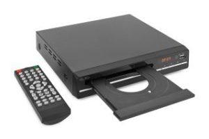 DVD-Player Reflexion offen mit Fernbedienung