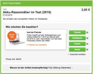 Akku-Rasenmäher Test von Stiftung Warentest jetzt kaufen!