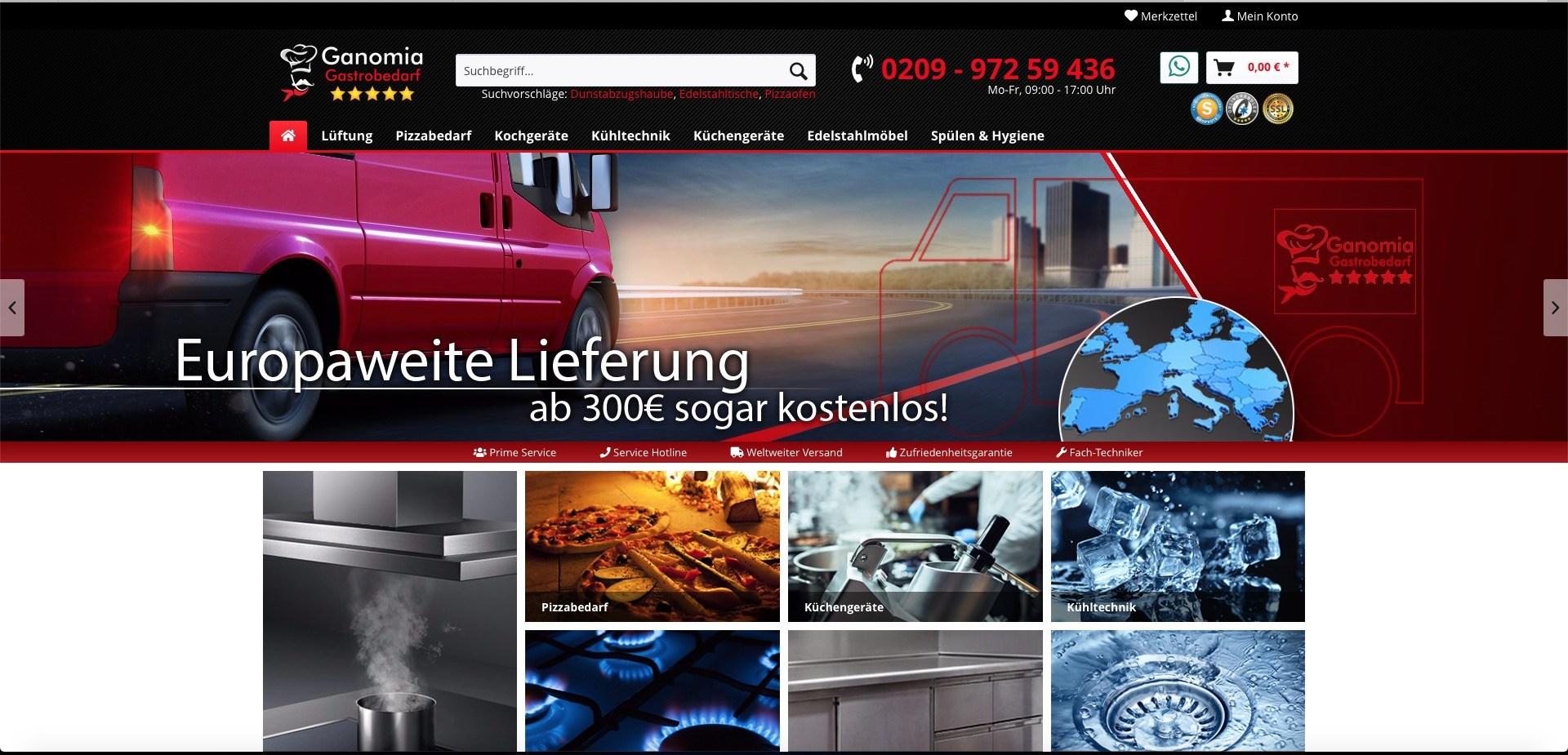 Bildschirmfoto von ganomia.de