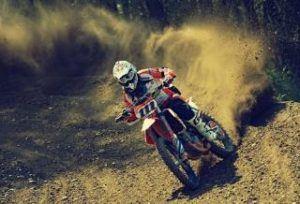 Motorradstiefel beim Motocross