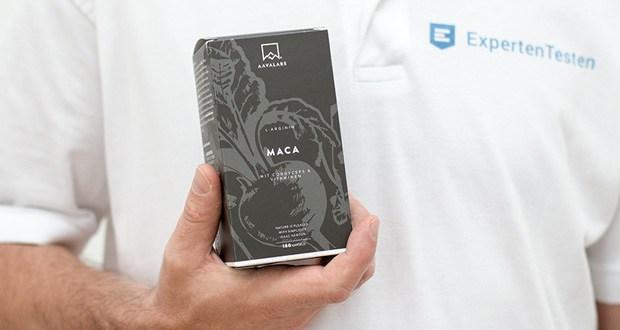 Maca L - Arginin von Aava Labs - 4 Kapseln enthalten 1600 mg L-Arginin & 1000 mg Maca-Wurzelextrakt [4:1]