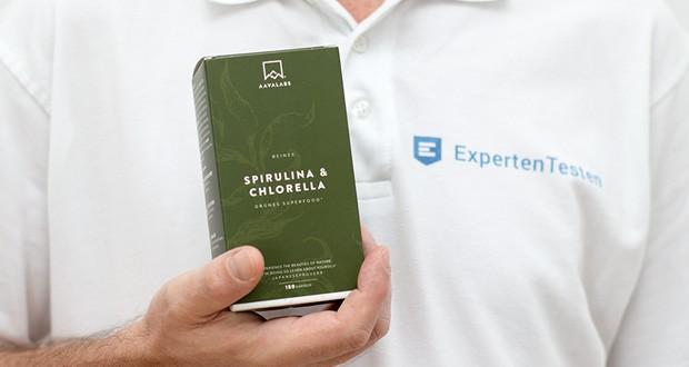 Spirulina Chlorella Algen Kapseln von Aava Labs - 180 Pulver Kapseln - Hochdosiert