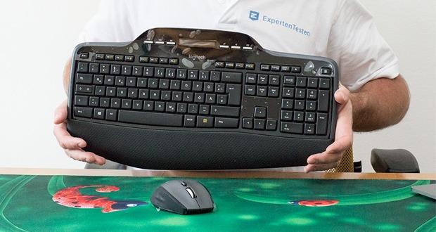 Logitech Wireless Keyboard + Mouse MK710 von FortKnox - Bei einer Lebensdauer der Tastaturbatterien von drei Jahren können Sie auf den Batteriewechsel fast völlig verzichten