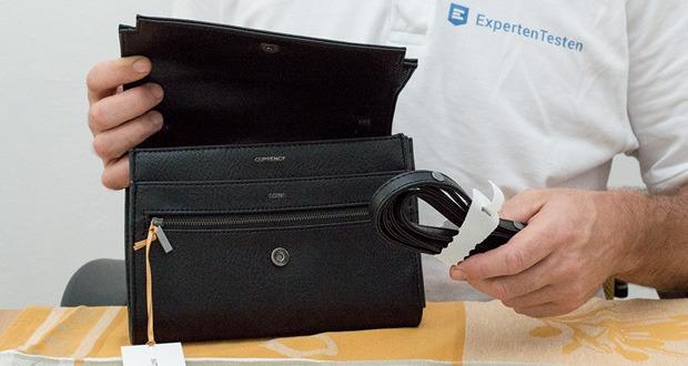 Reisetasche Trek von Matt & Nat ist eine faire Umhängetasche für Reisen mit vielen Funktionen eines großen Portemonnaies