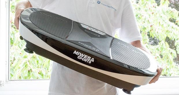 Bei der Miweba Sports Vibrationsplatte MV200 3D trifft Design auf ausgeklügelte Funktionalität