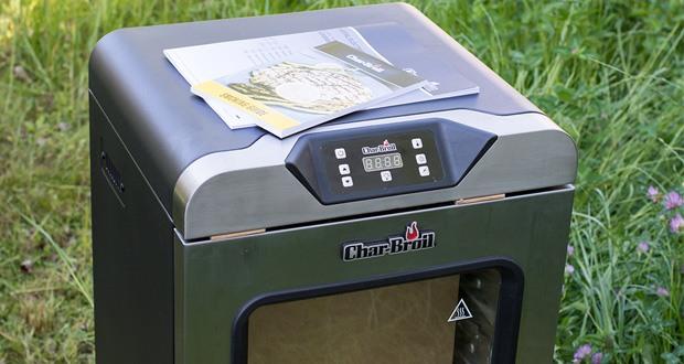 Char-Broil Digital Smoker - über das entfernbare und leicht zu reinigende Thermometer lässt sich der perfekte Garpunkt für das Grillgut bestimmen