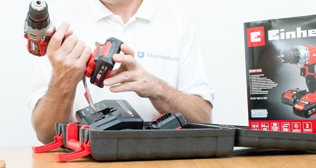 Der Einhell Akku-Bohrschrauber TC-CD 18-2 Li ist mit einer automatischen Spindelarretierung für einen einfachen Werkzeugwechsel ausgestattet