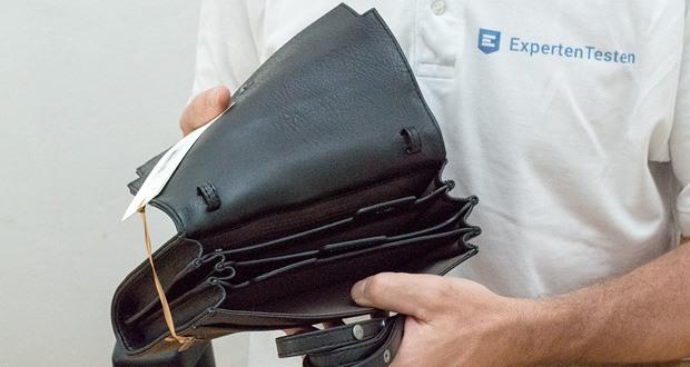 Reisetasche Trek von Matt & Nat - Denn darin finden Kredit-, Bordkarten, dein Reisepass, Rechnungen, Geldscheine und Münzgeld in stilvoll beschrifteten Fächern Platz