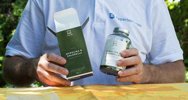 Spirulina Chlorella Algen Kapseln von Aava Labs - hochwertige Pflanzeninhaltsstoffe aus Spirulina Alge